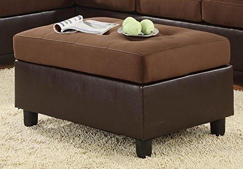 Homelegance Comfort Living Ottoman, Chocolate Brown