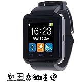 DAM - Smartwatch Multifunción Bluetooth U8 Negro, Reloj Inteligente Bluetooth,Compatible iOS&Android,