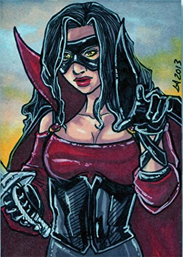 (Women of Zorro Sketch Card by Lynne Anderson)