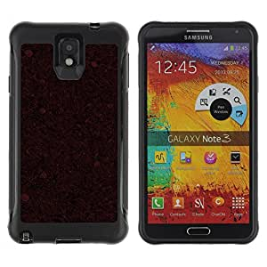 ZAAAZ Rugged Armor Slim Protection Case Cover Durable Shell - Red Pattern - Samsung Note 3