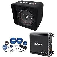 Kicker 43VCWR122 COMP12 12 1000 Watt Subwoofer+Vented Sub Box+Mono Amp+Wire Kit