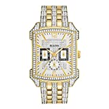 Bulova Men's  98C109  Swarovski Crystal Pave Bracelet Watch