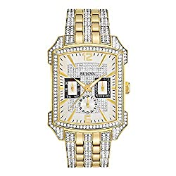 Crystal Two-Tone Stainless Steel Watch