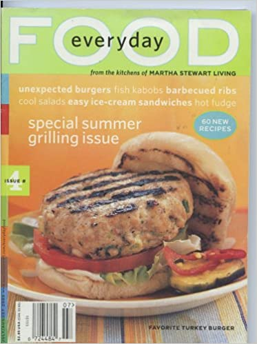 Everyday Food Magazine From The Kitchens Of Martha Stewart Living July August 2003 Issue 4 Special Summer Grilling Issue Melissa Morgan Amazon Com Books