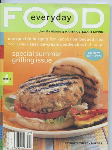 Everyday Food Magazine From the Kitchens of Martha Stewart Living July/August 2003 (Issue #4) - Special Summer Grilling Issue