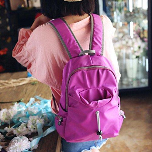 Mochila Impermeable Púrpura Bolso Ms Bolsas Doble Bolso Hombro Mochila Viaja Taza Z Nylon De amp; Bolsillo Mochila Yf Mochila PwxWZqAU
