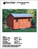 6' X 12' Saltbox Storage Shed/playhouse Plans -Design #70612