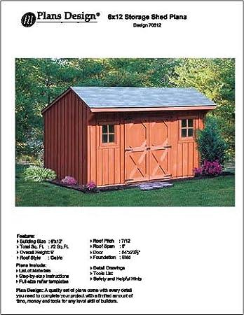 6 x 12 saltbox storage shedplayhouse plans design 70612