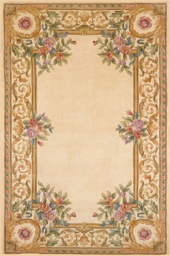 Momeni Rugs HARMOHA-07IVY2030 Harmony Collection, Traditional Area Rug, 2' x 3', Ivory