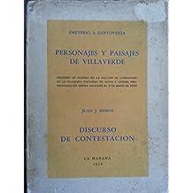 Personajes y paisajes de villaverde.primera edicion.1955.