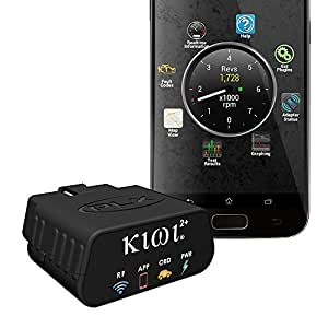 PLX Devices Kiwi 2+ Bluetooth OBD Car to Smartphone Wireless Link and Scan Tool for Android, Windows, Symbian, Linux and N9