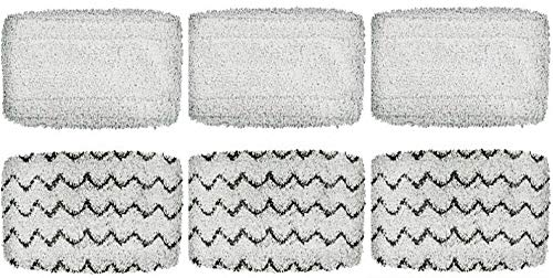 - 6 PACK Genrt 1252 Symphony Hard Floor Vacuum and Steam Mop Pad Kit Compatible With Bissell Vacuum Steam Cleaners