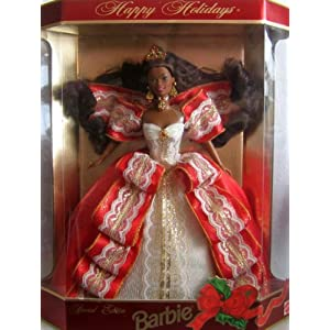 Happy Holidays 1997 Special Edition Barbie, African-american 10th Anniversary