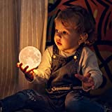 Mind-glowing 3D Moon Lamp - Warm and Lunar White