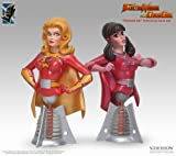 Electra Woman and Dyna Girl Electric Tiki ElectraWoman & DynaGirl Polystone Busts