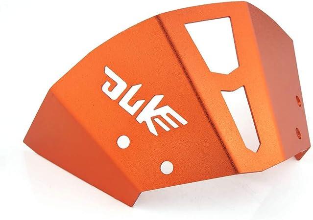 Liseng Orange Aluminium Moto Bouclier du Vent Compatible pour Phare Sup/éRieur Support de Sup/éRieur pour Pare-Brise Duke 300 390 Duke 2011-16 125 200 250