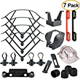 Kuuqa 7 Pack Accessory Kits for Mavic Pro, Propeller Prop Guard, Landing Gear Extender, Lens Hood, Remote Controller Joystick Protector, Propeller Guard Fixator, Gimbal Guard Protector, Motor Cap Review