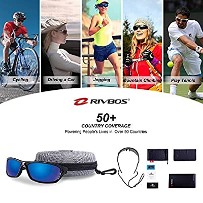 RIVBOS Polarized Sports Sunglasses Driving Sun Glasses for Men Women TR 90 Frame for Cycling Baseball Running Rb831
