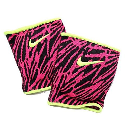 Nike Essentials Volleyball Knee Pads (Zebra Pink/Black/Volt, X-Large/XX-Large) - Pad Zebra