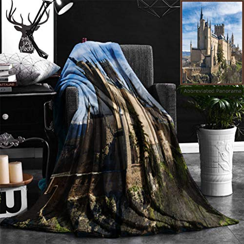 """Nalagoo Unique Custom Flannel Blankets The Alcazar Of Segovia Spain Super Soft Blanketry for Bed Couch, Throw Blanket 40"""" x 60"""" by Nalagoo"""