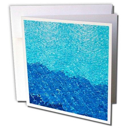 Jordan, Aqaba, Red Sea Beach, swimming pool pattern - Greeting Card, 6 x 6 inches, single (gc_74156_5)