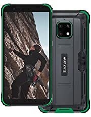 """Rugged Unlocked Cell Phones, Blackview BV4900, 4G Dual Sim Unlocked Phones, Android 10, 3GB+32GB, IP68 Waterproof Drop Proof Smartphone, 5.7"""" HD+Screen Cell Phone with 5580mAh Battery, Green"""