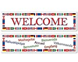 International Welcome Banners (Asstd Designs) Party Accessory (1 Count) (2/pkg) Pkg/3