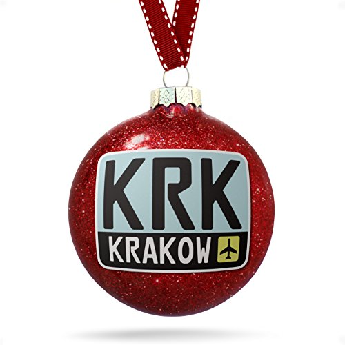 NEONBLOND Christmas Decoration Airport Code KRK/Krakow Country: Poland Ornament (Krakow Christmas)