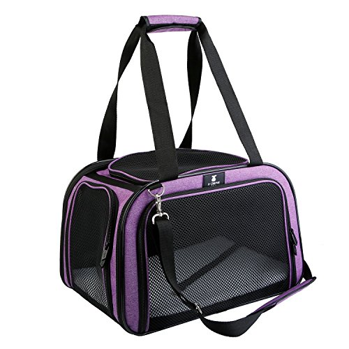 X-ZONE PET Pet Carrier for Dog and Cats, Airline Approved Soft-Sided Pet Travel Carrier,Portable Kennel for Puppies ...