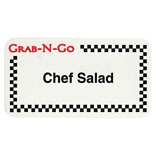Expressly HUBERT White Grab-N-Go Food Information Labels Imprinted Chef Salad - 1 3/4 L x 7/8 H by Hubert (Image #1)