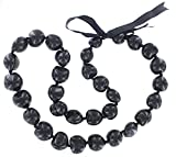 Barbra Collection Hawaiian Lei Necklace of Kukui Nuts (Black)
