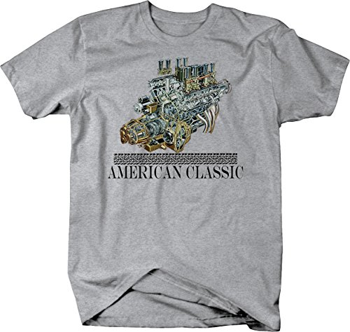 Imprint Block - American Classic Big Block V8 Engine Racing Tshirt - 2XL