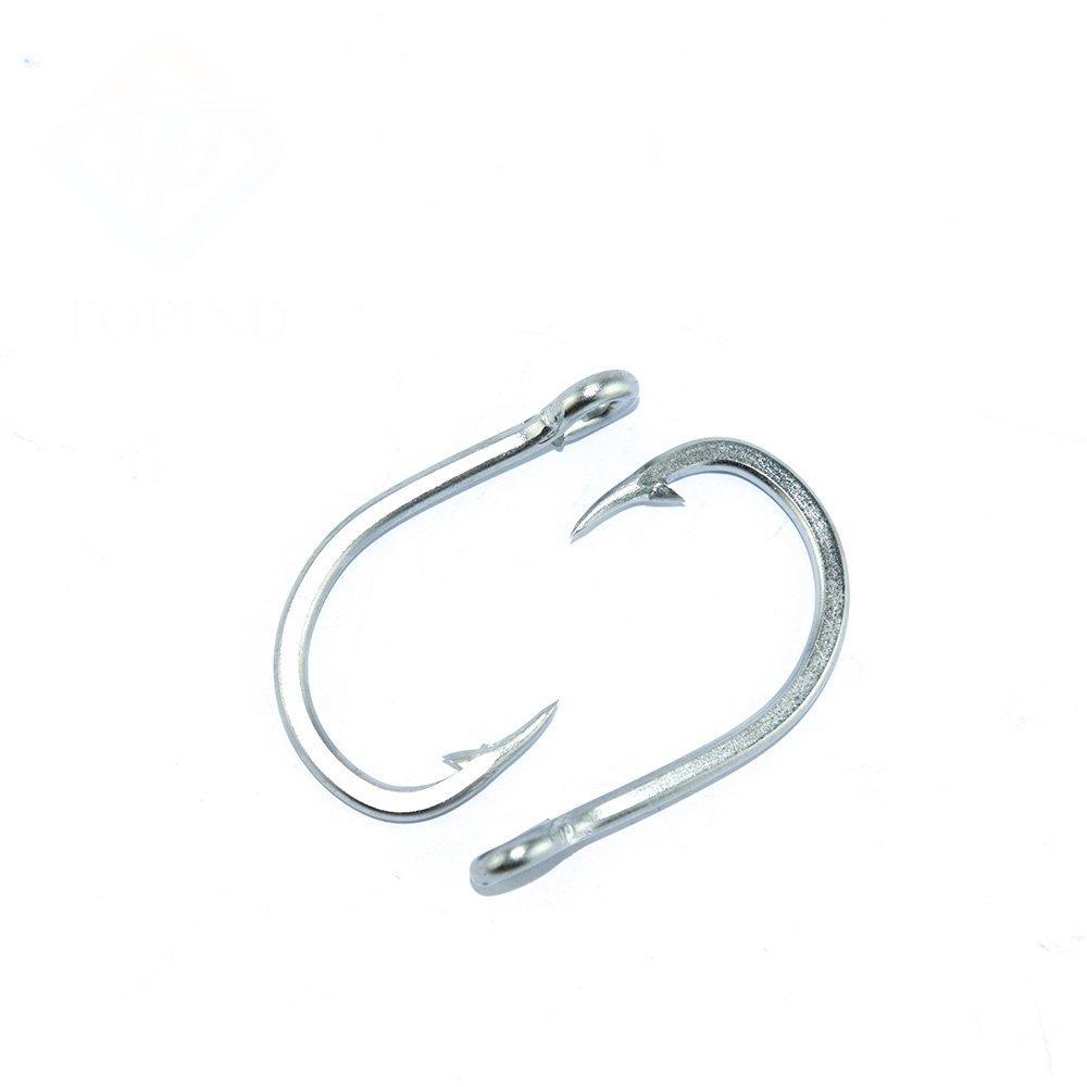 TOPIND Gancho de pescado 10884 Vigorously caballo vinculado gancho de banda 4//0 # a 10//0 # 7 tipos de gancho de pesca de tama/ño sostenido con gancho de pesca de espina 10pcs