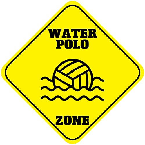 Polo Sign - Aluminum Cross Sign Water Polo Zone Crossing Metal Wall Decor - 12