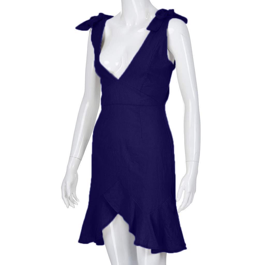 big savings Kexdaaf Party Dress, Fashion Women's Solid Color V ...