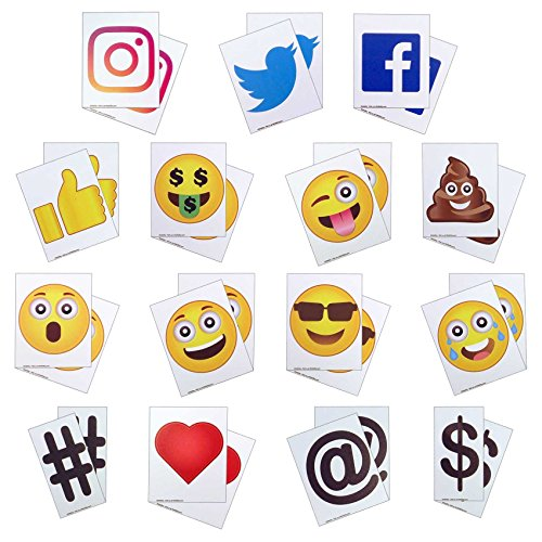 (KitAbility Get More Social 4 Inch Set for White Message Board Sidewalk Signs, Includes Additional Emoji, Social Media Symbols, and More)
