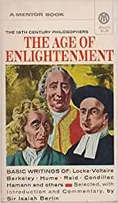 The enlightenment of 18th century thinkers