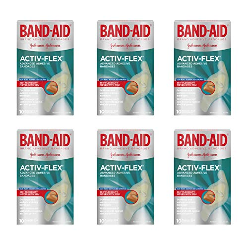 Band-Aid Brand Activ-Flex Adhesive Bandages For An Active Lifestyle, 10 Count (Pack of 6)