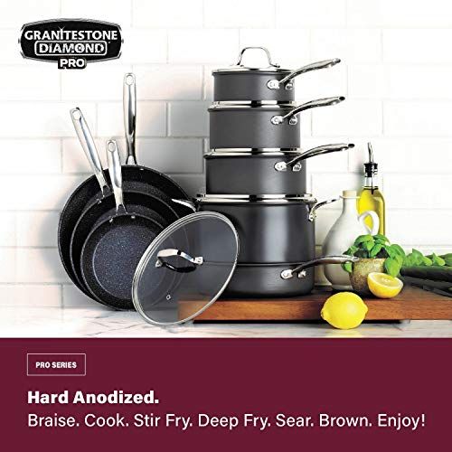 13-piece hard anodized pots and pans