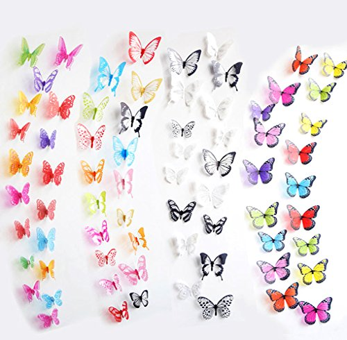 ElecMotive Colorful Butterfly Butterflies Removable