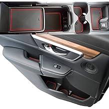 Custom Fit Cup, Door, Console Liner Accessories 2019 2018 2017 Honda CR-V CRV (Red Trim)