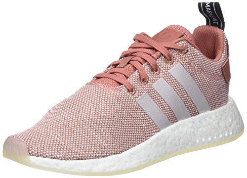 adidas Women's NMD_r2 Low-Top Sneakers Pink (Ash Pink/Crystal White/Footwear White) CPqpS8KKU