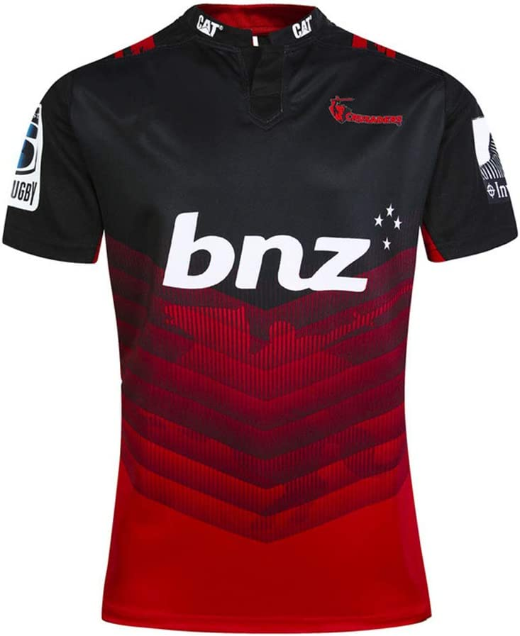 Chemise De Sport pour Homme JUNBABY Maillot De Rugby 2018 Crusaders T-Shirt Super Rugby 2017