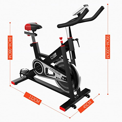 Belovedkai Exercise Bike, Indoor Cycling Bike Cycle Trainer Exercise Bicycle, Workout at Home Fitness Equipment (401 Black)