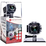 Element Works 360 Degree Digital Hd Waterproof Wifi Video Camera with Tripod and other Accessories (Silver)