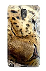New Style CaseyKBrown Sleeping Leopard Premium Tpu Cover Case For Galaxy Note 3
