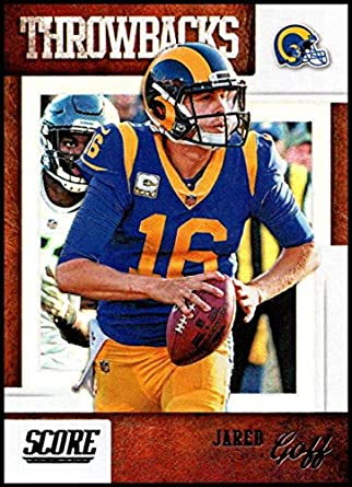 online store 8444b 94f57 Amazon.com: 2019 Score Throwbacks #8 Jared Goff NM-MT+ Los ...