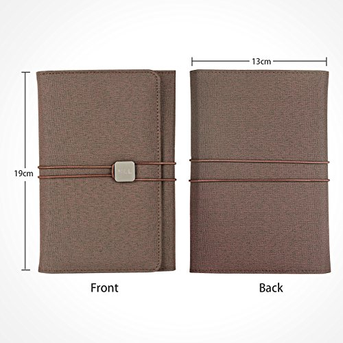 GEOTEL Notebook, Daily Planner, Multi-Function & Recyclable Fabric Cover Notebook Interior Pockets for Cards, Cash, Cheque etc., Perfect for Diary or Daily Writing (7.6