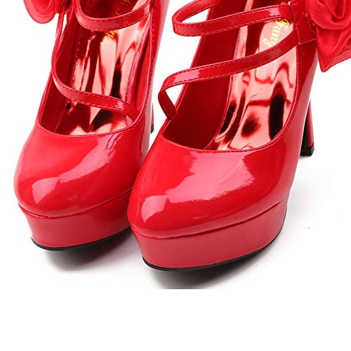GTVERNH Damenschuhe Hochhackige Damenschuhe Roten Hochzeit Schuhe Braut Braut Braut - Schuhe Einzelne Schuhe 12Cm Stiletto - Schuhe. e96b82