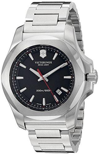 Victorinox Men's 'I.N.O.X' Swiss Quartz Stainless Steel Casual Watch, Color:Silver-Toned (Model: 241723.1) -  Victorinox MFG